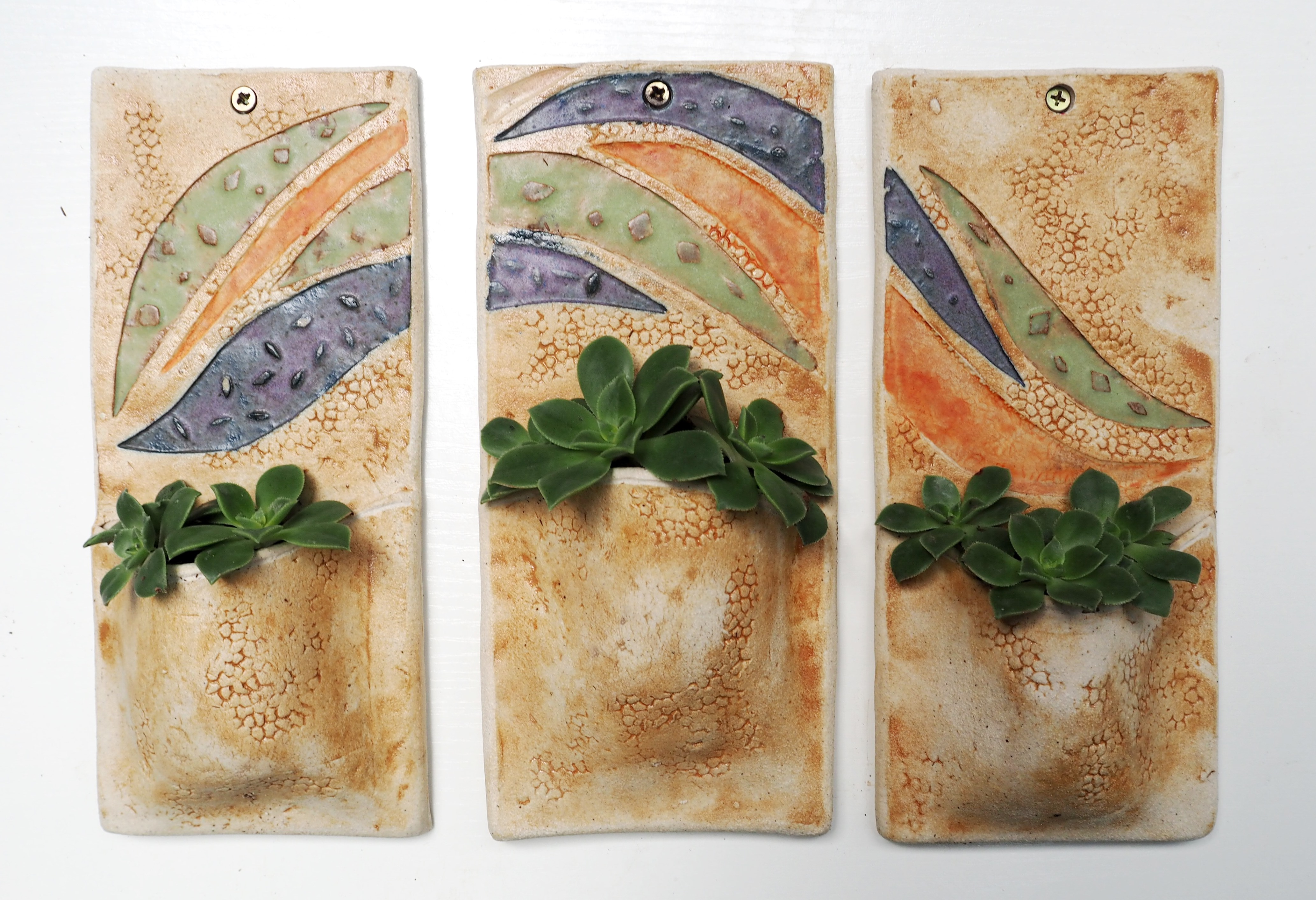 BSS: Wall Planter Triptych in Clay
