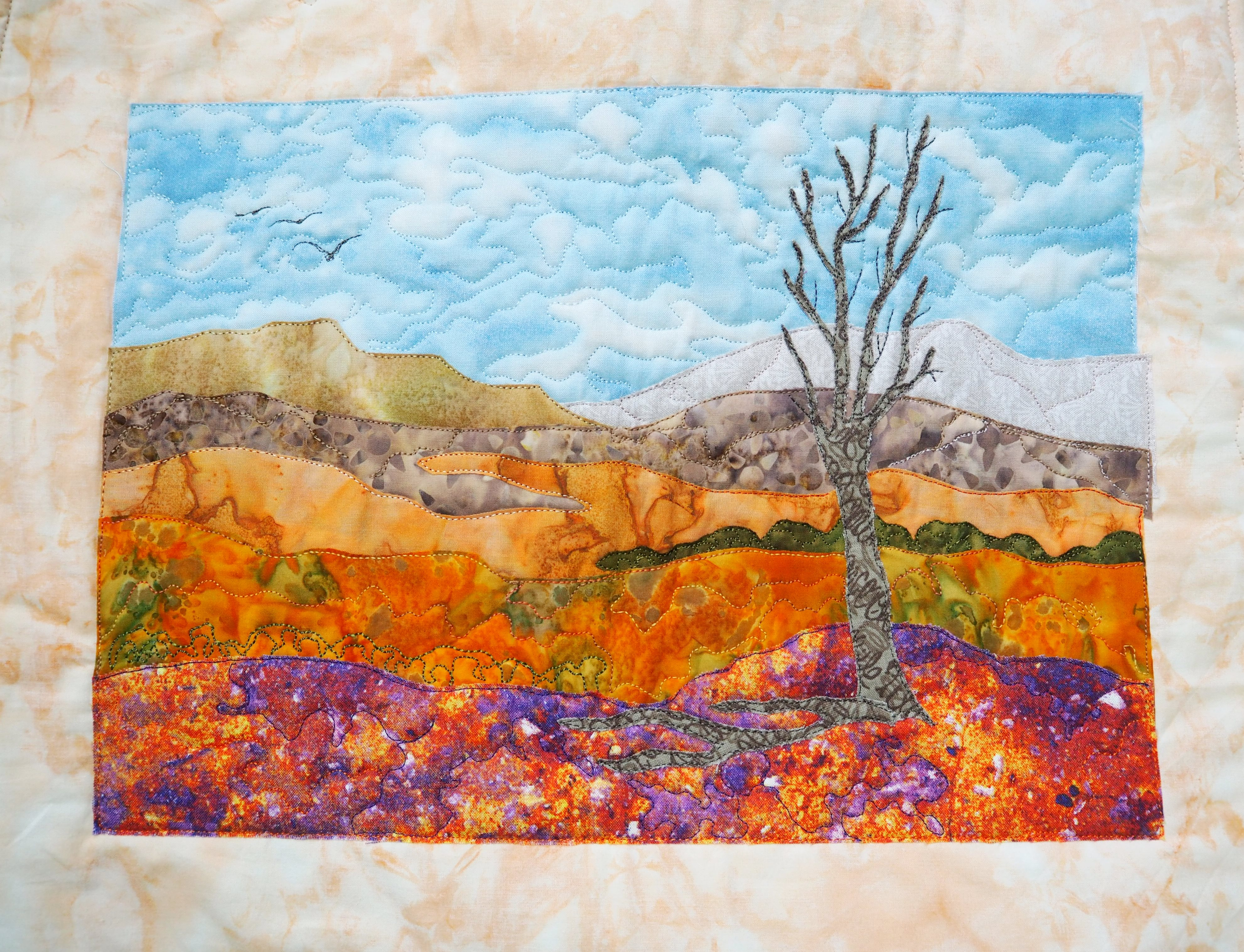 BSS: Freeform Quilted Landscape