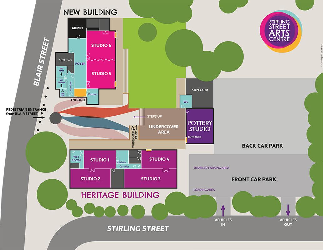 Stirling Street Arts Centre plan