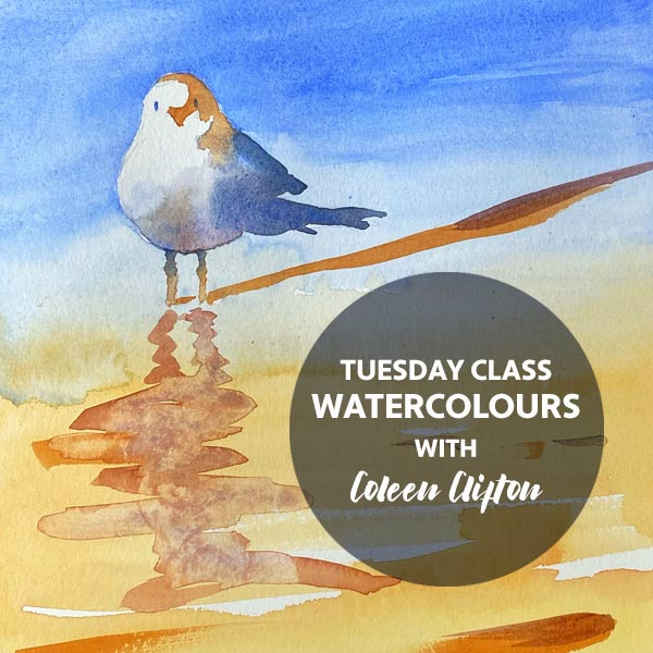 STAT2 Tuesday Watercolours art workshop 20 Apr - 18 May