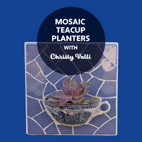 STAT4 Mosaic Teacup Planters with Christy Valli