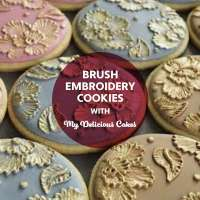 BSS22: Brush Embroidery Cookies
